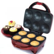 American Originals EK0838 6 Cupcake Maker In Red bundle