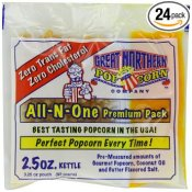 Allinonepopcornkits 2,5 oz x 24 st Great Northern Popcorn Company portionsförpackningar