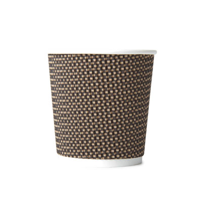 4oz-Disposable-Triple-Wall-Cup-Brown-Check-Cup-x-25-Pack