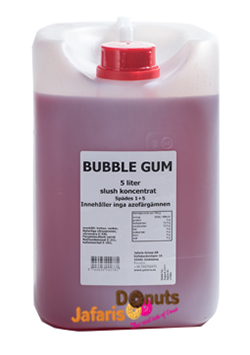 slush syrup bubble gum bubbelgum mix koncentrat 5 liter